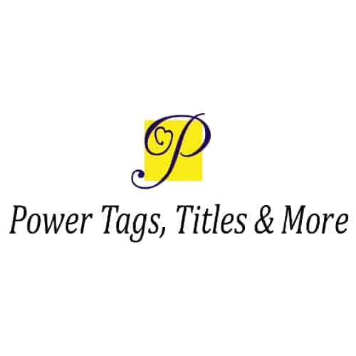 Power Tags, Title & More - Logo